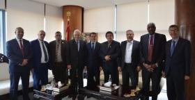 ضيوف Untm من الاتحاد الدولي لنقابات العمال العرب يلتقون رئيس الحكومة