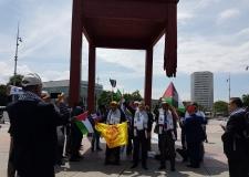 """الأمين العام للاتحاد يشارك في احتجاج على قرار """" ترامب """" أمام مقر الأمم المتحدة بجنيف"""