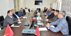 الأمين العام يستقبل أعضاء المكتب الوطني للنقابة الوطنية للطرق السيارة