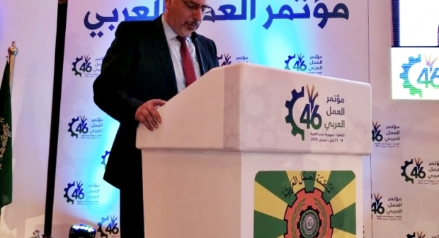 الحلوطي يدعو منظمة العمل العربية لإحداث هيئة لمتابعة ملف العمال الفلسطينيين