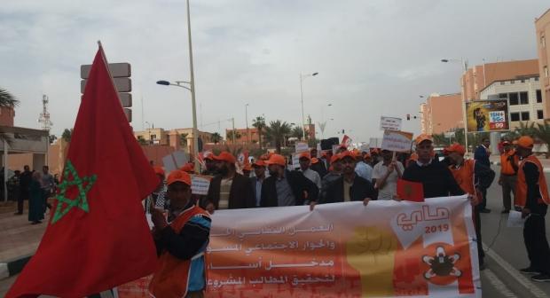 مسيرة حاشدة ومهرجان خطابي ناجح بالرشيدية