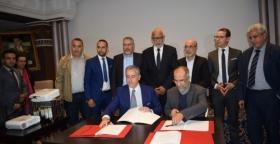 مراسيم توقيع الاتفاقية الجماعية بين untm وشركة سان جوبان