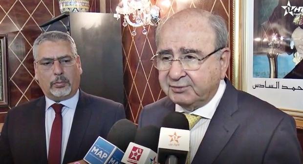 الحلوطي يستقبل رئيس الهيئة العربية الدولية لإعمار فلسطين